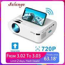Salange P62 мини-проектор 4000 люмен, 1920*1080P поддерживается светодиодный видео проектор для Мобильный телефон зеркальное отображение андроид опци...