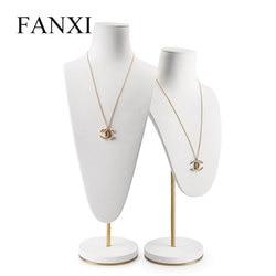 Oirlv Witte Ketting Display Stand Bust Mannequin Model Ketting/Hanger Buste Houder met Metalen Rek