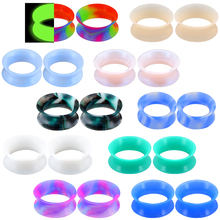 Plugs Stretchers Ear-Gauges Ear-Expander Flesh Tunnels Body Punk Double-Flared Soft-Silicone