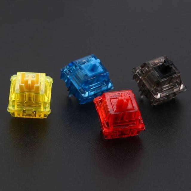 Interrupteurs à encre Gateron noir/rouge/bleu/jaune/noir silencieux (10 pièces)