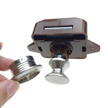 1PC Camper Car Push Lock RV Caravan Boat Motor Home Office Cabinet Drawer Latch Button
