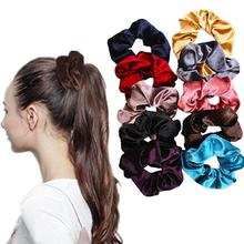 10Pcs Fashion Ladies Hair Ring High-grade Flannel Wide Rope Head