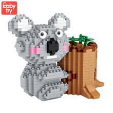 LOZ Diamond Blocks Koala Cute Animal Micro Building Brick Creative Pen Holder Toy Childrens Gift DIY 9212