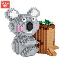 Loz алмазные блоки koala милые микростроительные с животными