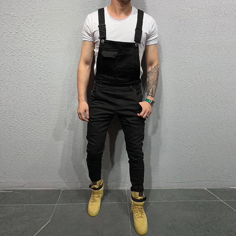Spring Male Sleeveless Trousers Work Jumpsuit Men Pocket Overalls Pants Man Suspender Five Color Autumn Jumpsuit Casual 2019