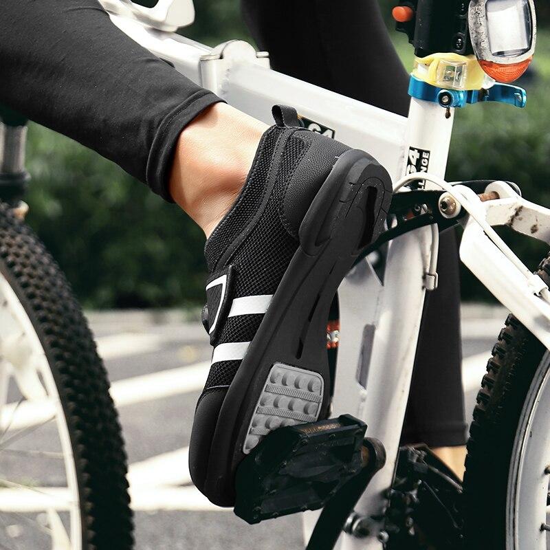 Bicicleta de Estrada Homem Sapatos Anti-deslizamento Respirável Ciclismo Triathlon Esporte Atlético Zapatos