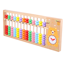 Free shipping Beech 13 stalls wooden abacus primary school children to learn mathematics teaching aids Wood educational toys bloomsbury curriculum basics teaching primary french