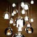 Скандинавские стеклянные светодиодные подвесные светильники с цветным стеклом  дизайнерская подвесная лампа для гостиной  бара  виллы  све...
