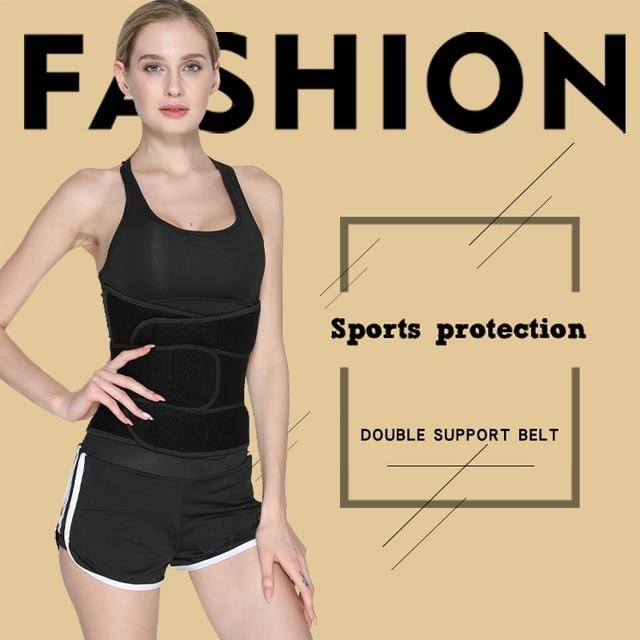 Sports Waist Trimmer Belt Slim Weight Loss Sweat Band Shapewear Adjustable Lumbar Brace Gym Accessories Weightlifting Training F 5