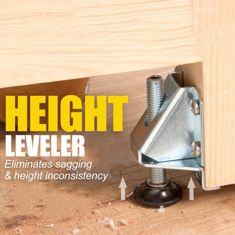 NEW Adjustable Height Furniture Leveler Strong Load-bearing Protect Floor Small Feet Leveling Feet With Anti Slip Pad 1pc