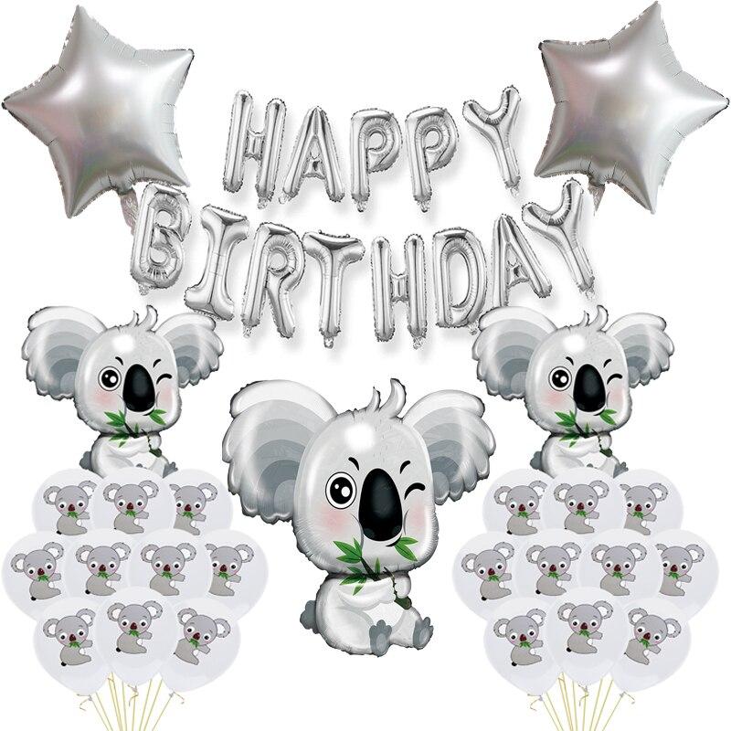 Сафари джунгли, животные, воздушный шар, питомец, серые воздушные шары для тематики джунглей, серебряные украшения на день рождения, детская...