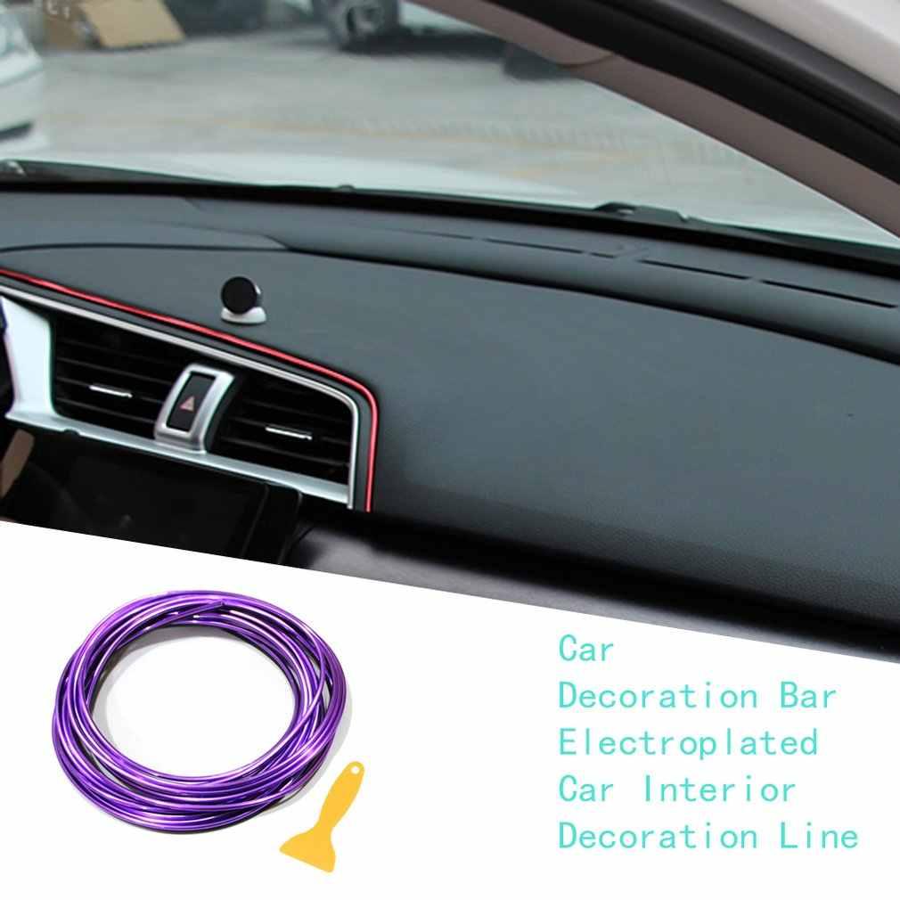 Moldura Interior de coche Trim galvanoplastia película de Color Interior del coche decoración Exterior moldeado Trim de línea de