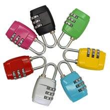 1pc 3 dial bagagem travel lock cadeado de viagem senha bloqueio para mala bagagem caixa de ferramentas ginásio armário metal código senha bloqueio