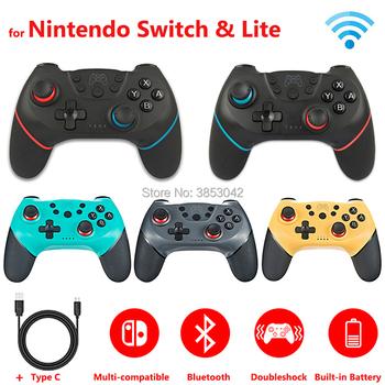 2 sztuk 1 pc bezprzewodowy kontroler z bluetoothem na przełącznik do nintendo Pro Gamepad na Nintendoswitch akcesoria do gier tanie i dobre opinie Gamepady IG-000009 Black For Nintend Switch controller