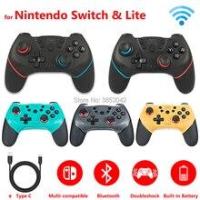 2 uds./1 unidad de controlador inalámbrico Bluetooth para Gamepad de Nintendo Switch Pro para Nintendoswitch accesorios de juegos