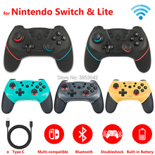 Controle Sem Fio Bluetooth Nintendo Switch Pro, 2 peças/1 peça gamepad para Nintendo switch, acessórios para games