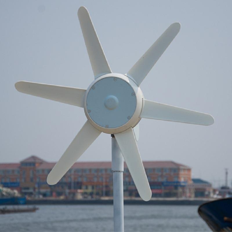 R & X 50W petit moulin à vent avec contrôleur intégré 6 pales 12 V/24 V DC générateur d'énergie éolienne avec Certification CE