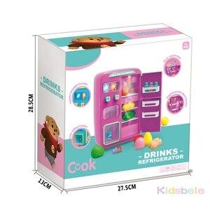 Image 5 - I bambini fanno finta di giocare giocattoli simulazione doppio frigorifero distributore automatico giocattoli cucina per bambini cibo giocattolo Mini Play House giocattoli per ragazze