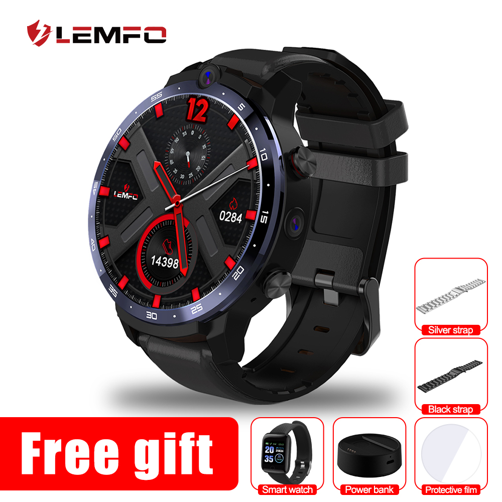 LEMFO LEM12 Pro 4G 64G Smart Watch 4G 1 6Inch 400 400 Resolution Wireless Projection Android 10 Face ID Dual Camera LEM12pro