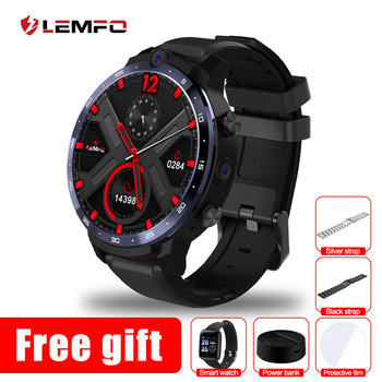 LEMFO LEM12 Pro 4G 64G Smart Watch 4G 1.6Inch 400*400 Resolution Wireless Projection Android 10 Face ID Dual Camera LEM12pro