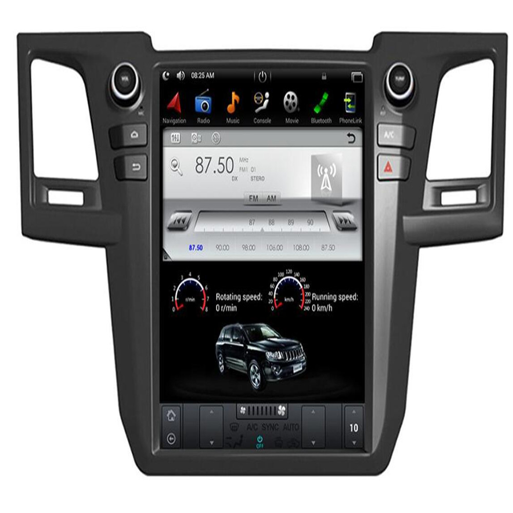 """IPS 6-Core PX6 Android 9.0 Tesla style 12.1"""" Car DVD Player for Toyota Fortuner 2004-2016 Bluetooth 5.0 WIFI GPS Stereo Radio"""
