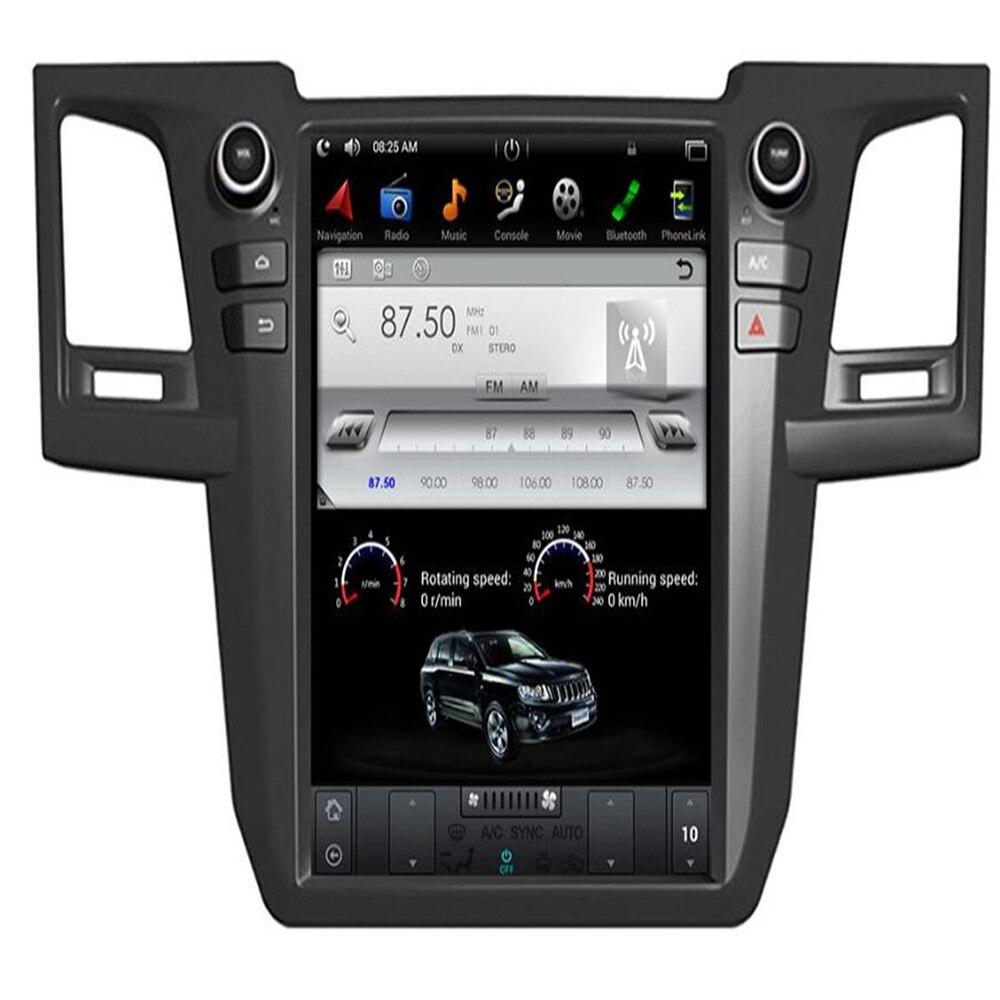 Lecteur DVD de voiture Toyota Fortuner   IPS 6-Core PX6, Android 9.0, Tesla style, 12.1 pouces, Bluetooth 2004, WIFI GPS, Radio stéréo