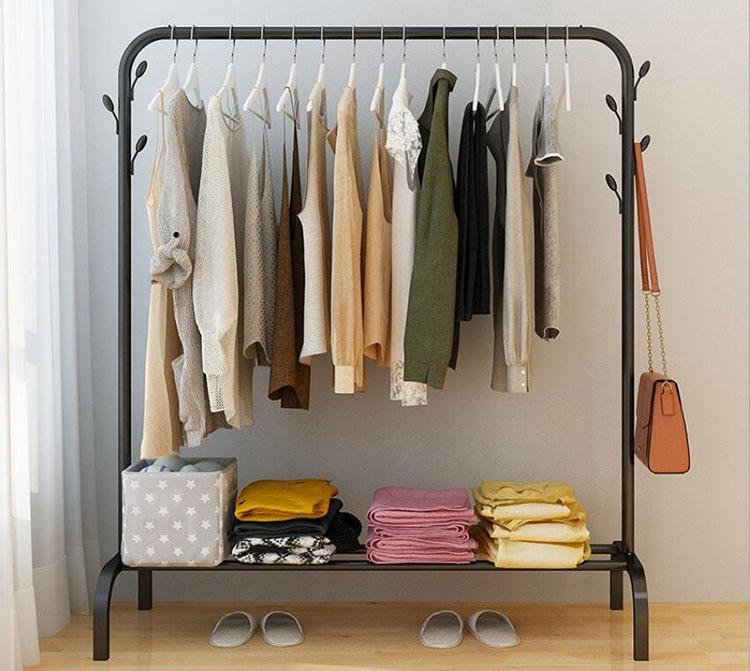 Metal Coat Rack вешалка напольная Floor Standing Hanger Storage Clothes Rack Creative Bedroom Living Room Furniture