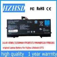 14.4V 45Wh 3150mAh Original FPCBP372 FMVNBP220 Laptop Battery For Fujitsu Lifebook U772 FPB0281