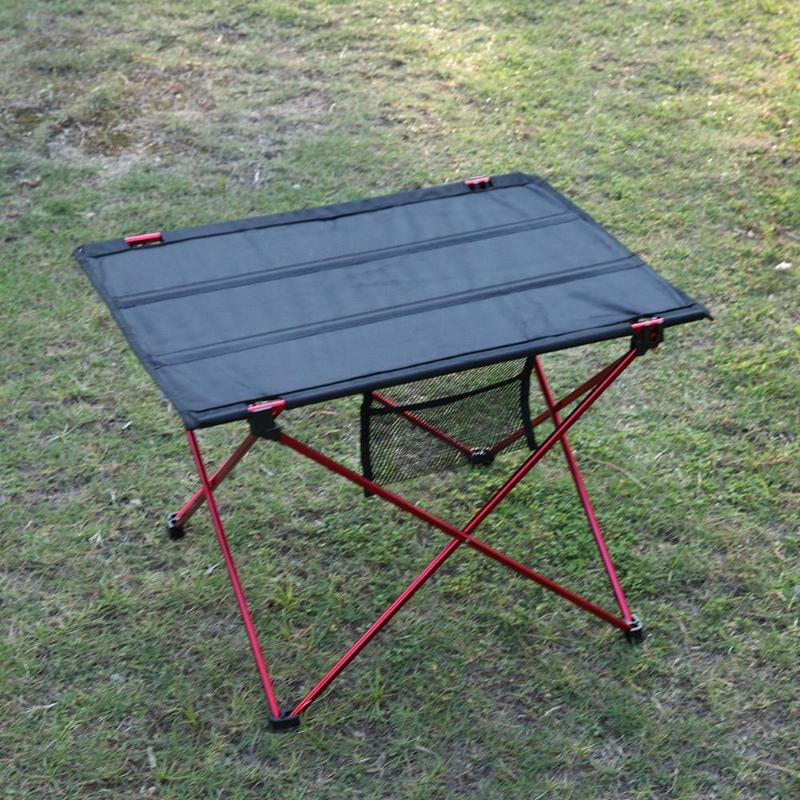 Image 5 - Portable Foldable Table Camping Outdoor Furniture Computer Bed Tables Picnic Aluminium Alloy Travelling Camping Folding Desk-in Outdoor Tables from Furniture