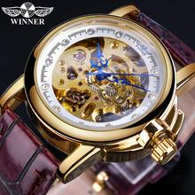 Winner 2019 Mechanial Women Watches Fashion Retro Leather St