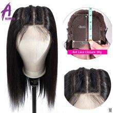Короткие парики из натуральных волос на шнурках, 4*4,, бразильские волосы, парик из натуральных волос для черных женщин, Perruque Femme Bresilienne