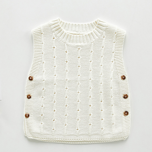 Autumn Newborn Baby Boys Girls Cotton Knitted Sleeveless Vest Cute Solid Sweater Knitted Vest Coat Korean Japan Style 15