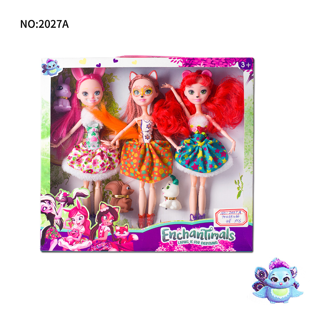 27cm Joints Enchantimals Doll Toy For Girl Limited Collection Anime Model Poupee Doll For Girls Gifts