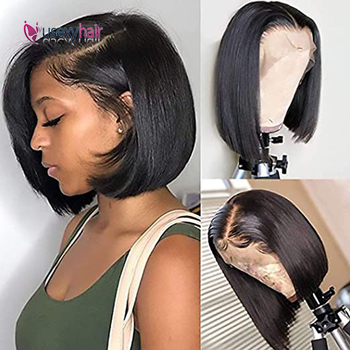 Straight Human Hair Lace Wigs Brazilian 13x4 Lace Front Short Bob Wigs With Baby Hair 150% Density Remy Bob Lace Human Hair Wig panda 13x4 kinky curly lace front human hair bob wigs brazilian remy 150% density human hair lace front bob wigs for black women