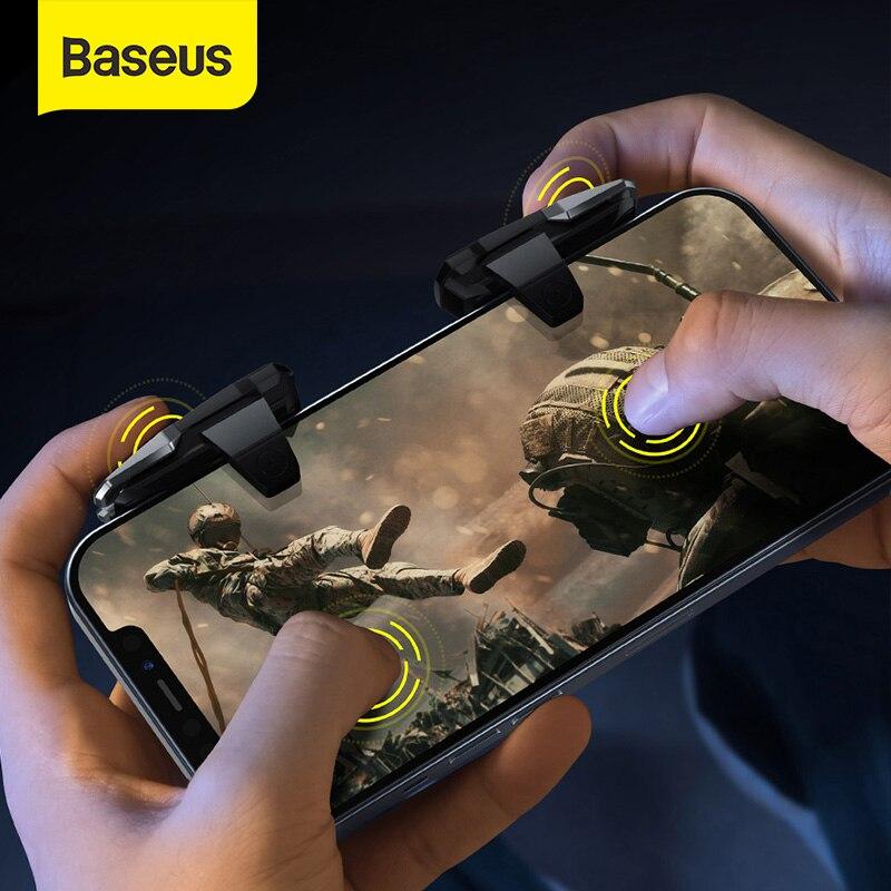 Baseus Gamepad Joystick Für PUBG Mobile Controller Auto Hohe Frequenz Klicken Joypad Trigger Taste, L1R1 Shooter für Android iOS