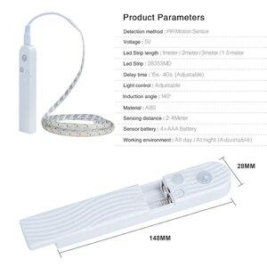 Image 2 - EeeToo PIR אלחוטי לילה אור עם Motion חיישן תאורה עמיד למים מנורת קיר USB קבינט מדרגות אור אינדוקציה LED ילדים