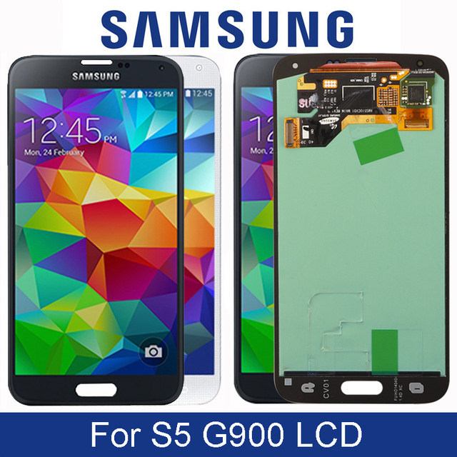 5.1 Super AMOLED Display For Samsung Galaxy S5 G900 G900F G900H LCD Display Screen With Touch Digitizer Assembly Replacement