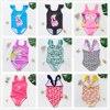 2~14Years Girls Comfort swimwear 2021 New Summer Girls Swimsuit one piece children Swimwear Kids Beachwear Bathing Suits