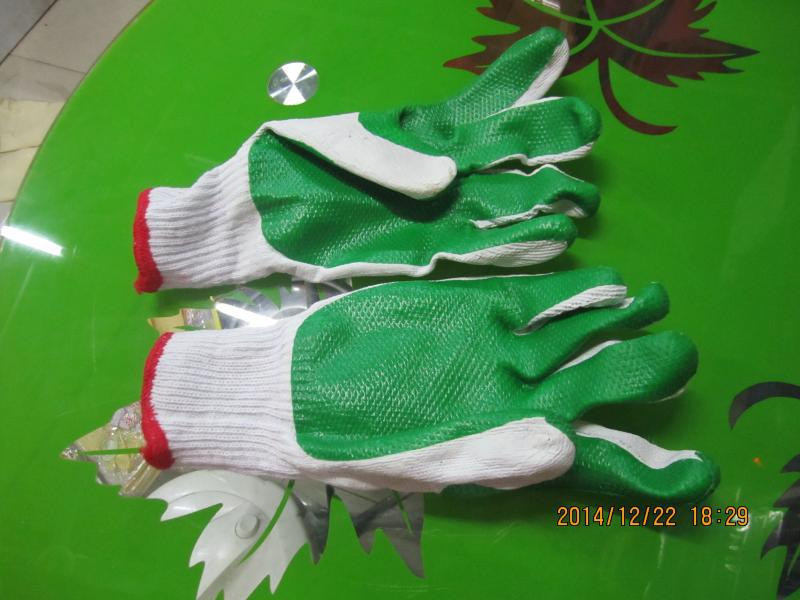 12 pairs/lot Hard film labor gloves protective wear resistant anti slip construction gloves hard rubber rubber gloves