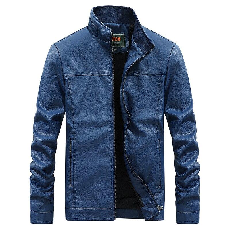 Mens Tactical Jacket,Mens Jacket Pure Color Imitation PU Leather Coat Tops,Faux Fur Coat Men