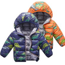 Camouflage Children Boys Jackets Winter Autumn 2019 Cartoon Dinosaur Girls Coats Kids Outerwear Baby Boys/Girls Clothes