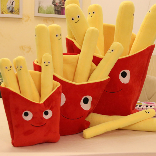 Cute Cartoon French Fries Soft Chips Pillow