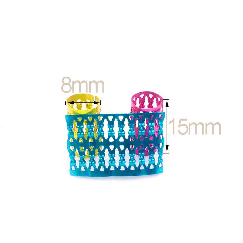 cabelo ajustável anéis manguito clipes tubo acessórios de estilo de cabelo