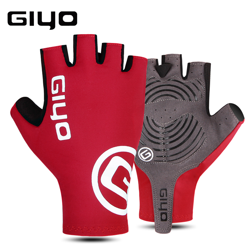 GIYO Summer Cycling Gloves Half Finger Gel Sports Racing Bicycle Mittens Women Men Road Outdoor Gloves Luva Guantes Ciclismo