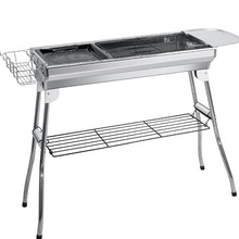 цена на Large stainless steel barbecue grill Outdoor folding barbecue grill BBQ portable barbecue grill