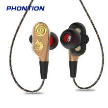 wired earphone high bass dual drive stereo in ear earphones with microphone computer earbuds for cell phone single speaker High Bass Wired Earphones Dual Drive  Headsets Stereo Gaming Sports In-Ear Earbuds With 3.5mm Mic For Computer cell phone