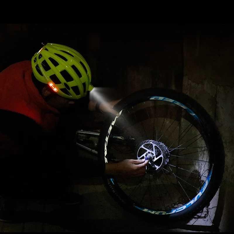 ROCKBROS Bike Front Light Helmet USB Rechargeable Bicycle Cycling Helmet Intergrally-molded MTB Safety Sports Riding Cap Helmet