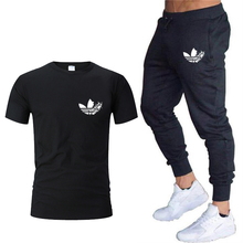 Sport jogging Suits Men 2019 autumn Running Sets Suit t shirt+Pants 2pc sets Gym Fitness Training Breathable Tracksuit