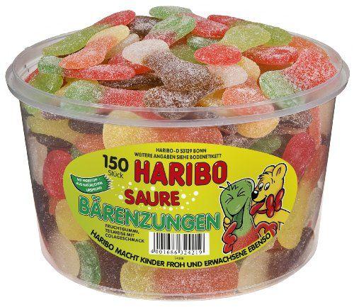 Haribo Saure Bärenzungen, 1er Pack (1 X 1,35kg Dose)