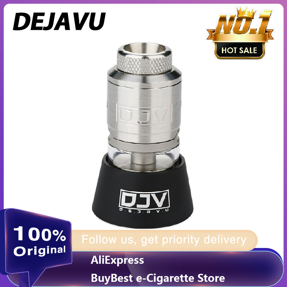 100% Original DEJAVU RDTA 2ml Capacity With Dual Coils Building & Leak-Proof Design E-cigarette Tank DJV Atomizer Vape Vs Zeus X